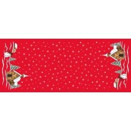 W 8487 ONLINE pattern pdf - Table runner with a church