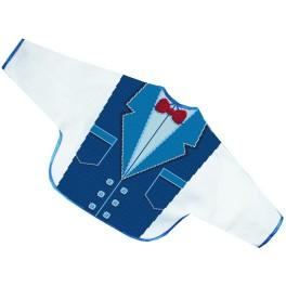 W 8501 ONLINE pattern pdf - Suit with a bow tie - bib
