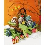 W 8507 ONLINE pattern pdf - Easter eggs - White flowers