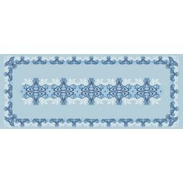 W 8527 Pattern online - Blue table runner