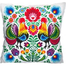 Pattern online - Pillow - roosters