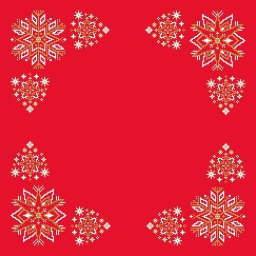 Pattern online - Napkin - Christmas stars
