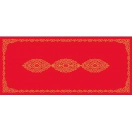 W 8555 ONLINE pattern pdf - Table runner with arabesque
