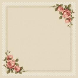 W 8578 Pattern online - Table-cloth with roses