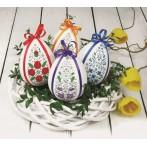W 8593 Pattern online - Easter egg with tulips