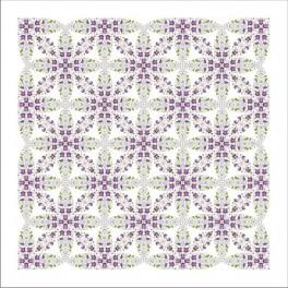Pattern online - Tablecloth with violets