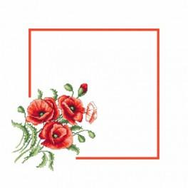 Pattern online - Napkin with poppies