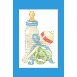 W 8615-02 Pattern online - Greeting card - Birth of the son