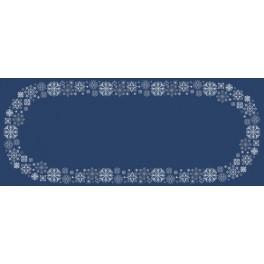 W 8822 ONLINE pattern pdf - Table runner with snowflakes
