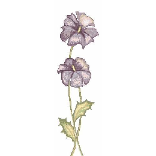 Online pattern - Fiolet flowers