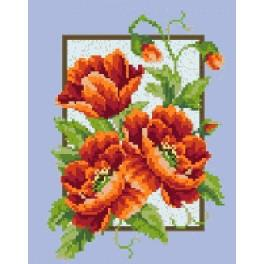 Poppys in the panel - Tapestry canvas