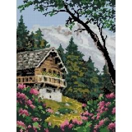 In the mountains - Tapestry canvas