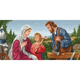 Holy family - Tapestry canvas