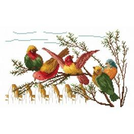 Gossiping birds - Tapestry canvas