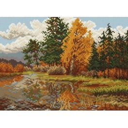 Autumn landscape - Tapestry canvas