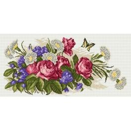 Bouquet of roses - Tapestry canvas