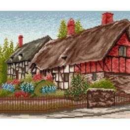 Small house with the garden - Tapestry canvas