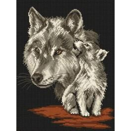 Wolves - Tapestry canvas