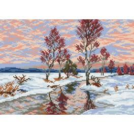 4174 First snow - Tapestry canvas