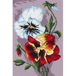 4183 Velvet pansies - Tapestry canvas