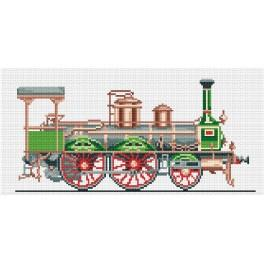 4212 Green locomotive - Tapestry canvas