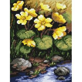 Yellow flowers - B. Sikora-Malyjurek - Tapestry canvas