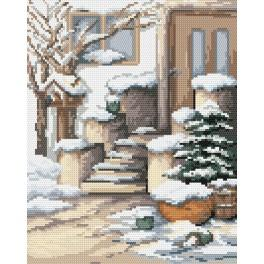 Winter porch - Tapestry canvas