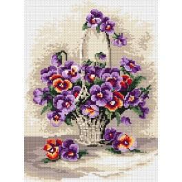Pansies - Tapestry canvas