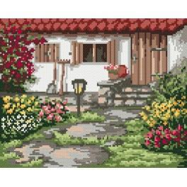 Spring garden - Tapestry canvas