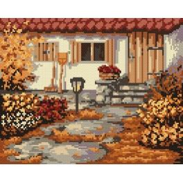 Autumn garden - Tapestry canvas