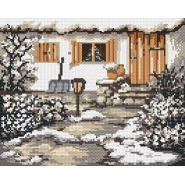 Winter garden - Tapestry canvas