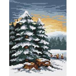 Pine trees - Tapestry canvas