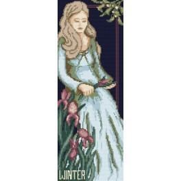 4546 Woman - Winter - B. Sikora-Malyjurek - Tapestry canvas