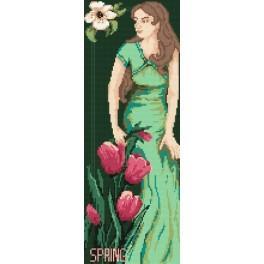 Woman - Spring - B. Sikora-Malyjurek - Tapestry canvas