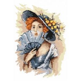 4550 Portrait of the lady - B. Sikora-Malyjurek - Tapestry canvas