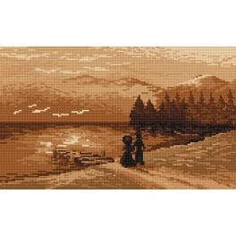 Evening walk - B. Sikora-Malyjurek - Tapestry canvas