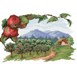The apple orchard - Tapestry canvas