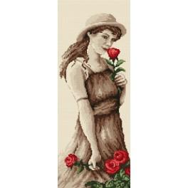 Girl with rose - Tapestry canvas