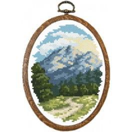 4673 Sunny Alps - Tapestry canvas