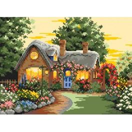 House in the flowers - Tapestry canvas