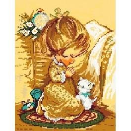 5103 The prayer of girl - Tapestry canvas