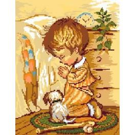5104 The prayer of boy - Tapestry canvas
