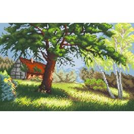 Landscape with trees - Tapestry canvas
