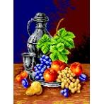 Drinking-glass and fruit - Tapestry canvas