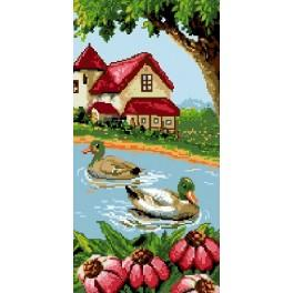 Ducks on the lake - Tapestry canvas
