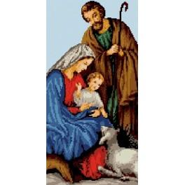 6533 Holy family - Tapestry canvas
