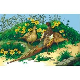 Pheasants - Tapestry canvas