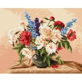 Peonies and gladiolas - Tapestry canvas