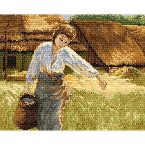Girl with a water pitcher - Tapestry canvas