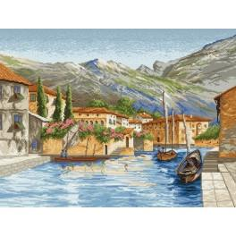 Town on water - Tapestry canvas
